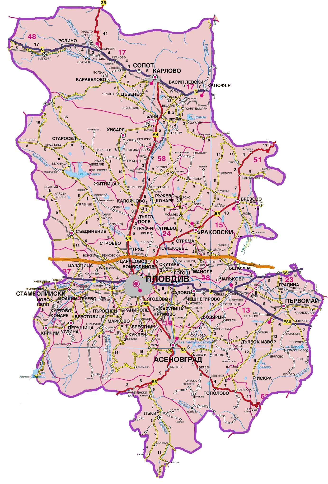 Karta Na Region Plovdiv Protivopozharni Stroitelno Tehnicheski